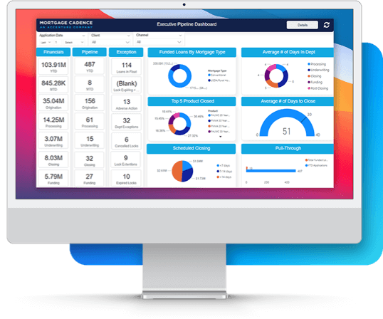 Mortgage Cadence online screen